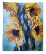 Sunflowers II Fleece Blanket