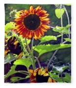 Sunflowers In The Park Fleece Blanket