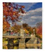 Sunkissed Lagoon Bridge Fleece Blanket