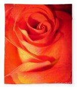 Sunkissed Orange Rose 10 Fleece Blanket