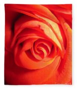 Sunkissed Orange Rose 11 Fleece Blanket