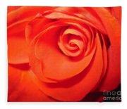 Sunkissed Orange Rose 9 Fleece Blanket