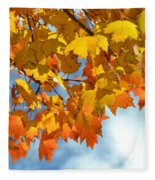 Sunlight And Shadow - Autumn Leaves Two Fleece Blanket