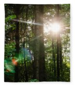 Sunlight Forest Fleece Blanket