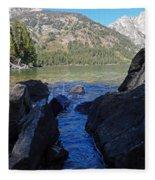 Sunlight On Lake Jenny Fleece Blanket