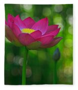 Sunlight On Lotus Flower Fleece Blanket