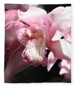 Sunlight On Pink Orchid Fleece Blanket
