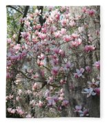 Sunlight On Saucer Magnolias Fleece Blanket