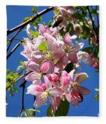 Sunlight On Spring Blossoms Fleece Blanket