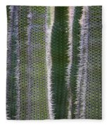 Sunlight Through Cacti Fleece Blanket