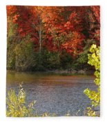 Sunlit Autumn Fleece Blanket