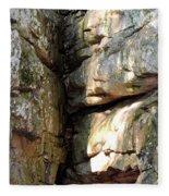 Sunlit Boulder On Shades Mountain Fleece Blanket