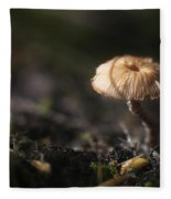 Sunlit Mushroom Fleece Blanket