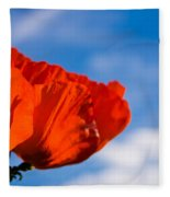 Sunlit Poppy Fleece Blanket