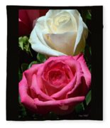 Sunlit Roses Fleece Blanket