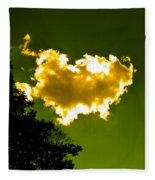 Sunlit Yellow Cloud Fleece Blanket