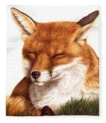 Sunnin' Red Fox Fleece Blanket