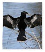 Sunning Anhinga Fleece Blanket