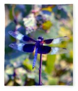 Sunning Dragonfly Fleece Blanket