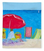 Sunny Afternoon At The Beach Fleece Blanket