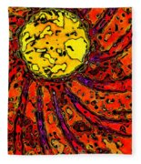 Sunny And Warm Today Fleece Blanket