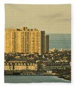 Sunny Day In Atlantic City Fleece Blanket
