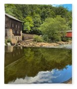 Sunny Days At Mcconnells Mill Fleece Blanket