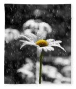 Sunny Disposition Despite Showers Fleece Blanket