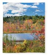 Sunny Fall Day Fleece Blanket