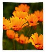 Sunny Floral Fleece Blanket