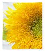Sunny Flower Fleece Blanket
