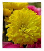 Sunny Flowers Fleece Blanket