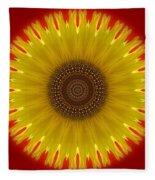 Sunny Kaleidoscope Fleece Blanket
