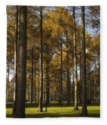 Sunny Larch Grove Fleece Blanket