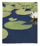Sunny Lily Pond Fleece Blanket