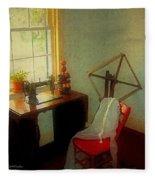 Sunny Sewing Room Fleece Blanket