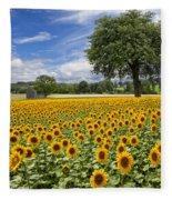 Sunny Sunflowers Fleece Blanket