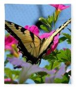 Sunny Tiger Swallowtail  Fleece Blanket