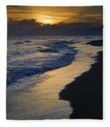 Sunrays Over The Sea Fleece Blanket