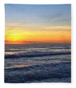 Sunrise And Waves Fleece Blanket