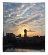Sunrise Arise Buffalo Ny V1 Fleece Blanket
