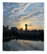 Sunrise Arise Buffalo Ny V2 Fleece Blanket
