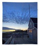 Sunrise At Barnstable Yacht Club Fleece Blanket