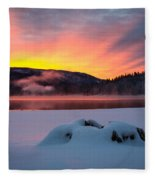 Sunrise At Bass Lake Fleece Blanket
