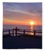 Sunrise At Cape Spear St Johns Newfoundland Fleece Blanket