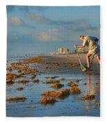 Sunrise At Cocoa Beach Fleece Blanket