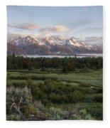 Sunrise At Grand Teton Fleece Blanket