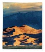 Sunrise At Great Sand Dunes Fleece Blanket