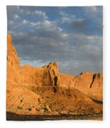 Sunrise At La Sal Mountians Fleece Blanket