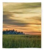 Sunrise At Little Neck Fleece Blanket